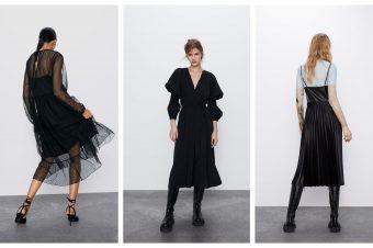 10 najlepših crnih midi haljina iz Zare
