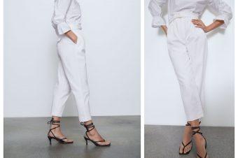 Bele pantalone savršenih krojeva potražite u Zari