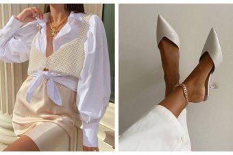 Beli komadi sa zlatnim aksesoarima – simbol prefinjenosti i elegancije